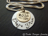 Sterling silver graduation gift for her carpe diem necklace seize the day inspirational jewelry - Drake Designs Jewelry