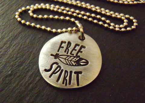 Feather Free spirit necklace boho bohemian gypsy jewelry - Drake Designs Jewelry