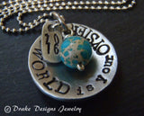 the world is your oyster graduation gift personalized necklace - Drake Designs Jewelry