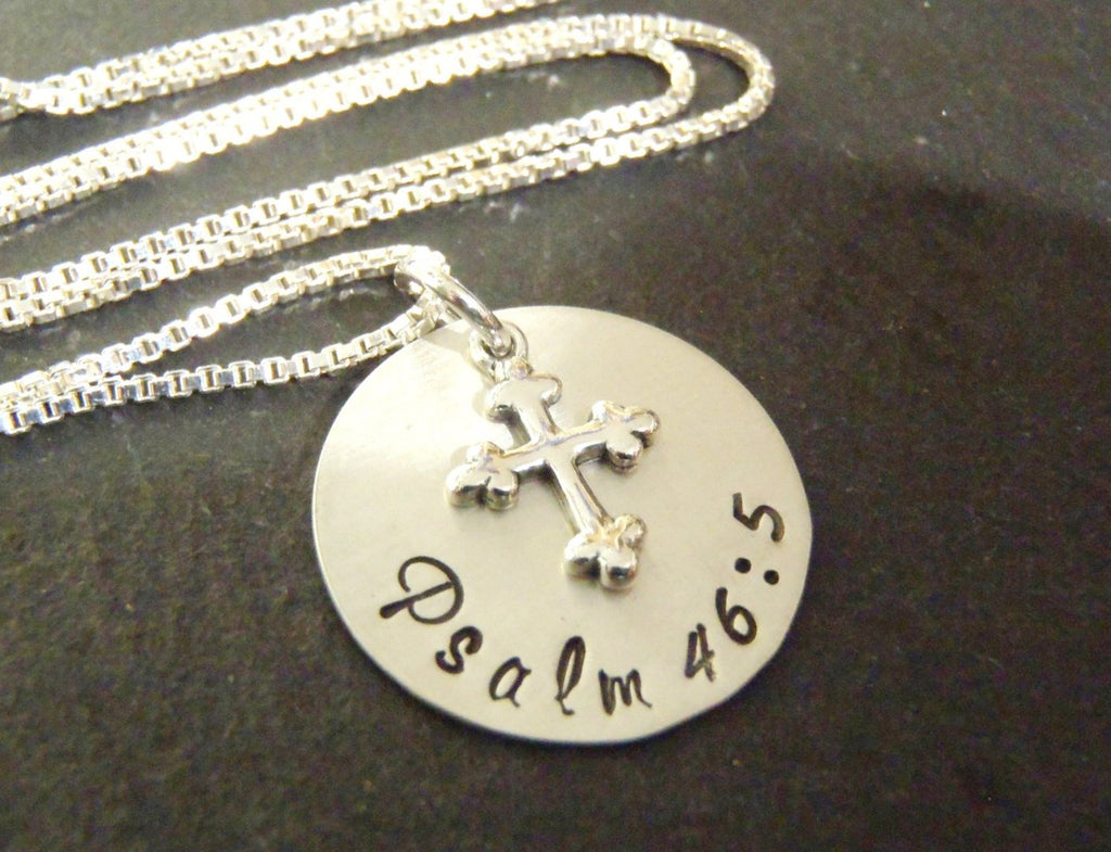 Scripture Jewelry - Sterling silver personalized Bible verse necklace - Drake Designs Jewelry