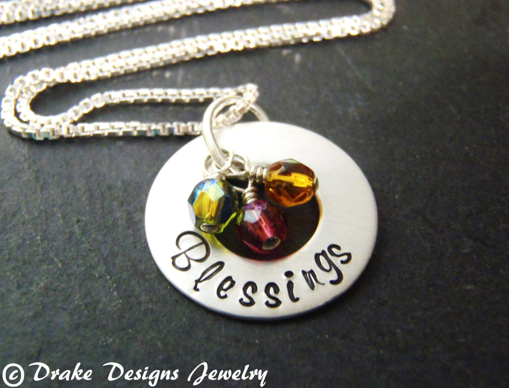 Sterling Silver personalized grandma necklace birthstones gift for grandmother birthstone necklace - Drake Designs Jewelry