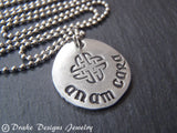 unique anam cara necklace Irish jewlry Celtic necklace best friend gift - Drake Designs Jewelry