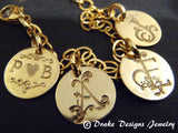 Mother's bracelet gold fill personalized initial bracelet with family initials - Drake Designs Jewelry