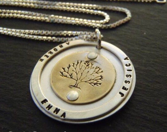 tree of life necklace personalized gold fill and sterling silver family tree necklace with names - Drake Designs Jewelry