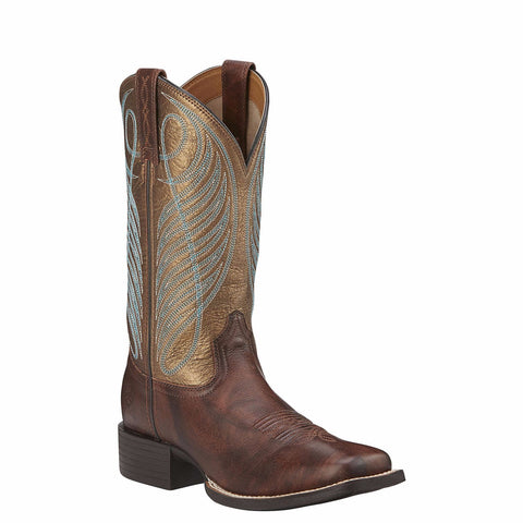 Ariat Ladies Yukon Brown Round Up WST Performance Boots 10016317 - Wild West Boot Store