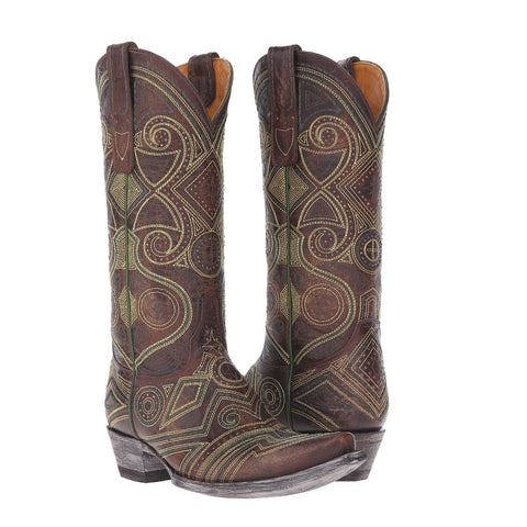 Old Gringo Ladies Brass Lerida Embroidered Boots L2392-2 - Wild West Boot Store - 1