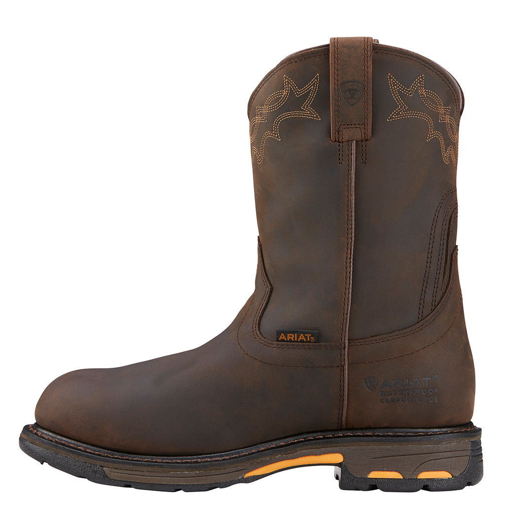 e1605a1bcc1 Ariat Men's Workhog H2O Waterproof Safety Toe Work Boots 10001200