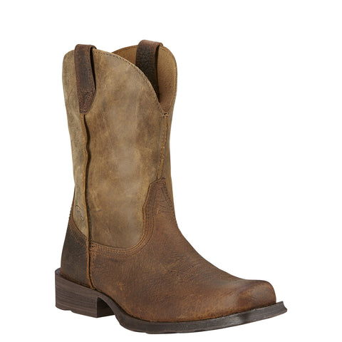 Ariat Men's Rambler Earth Brown Square Toe Boots 10002317 - Wild West Boot Store