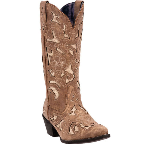 Laredo Ladies Sharona Crackle Sanded Goat Boot 52041 - Wild West Boot Store - 1