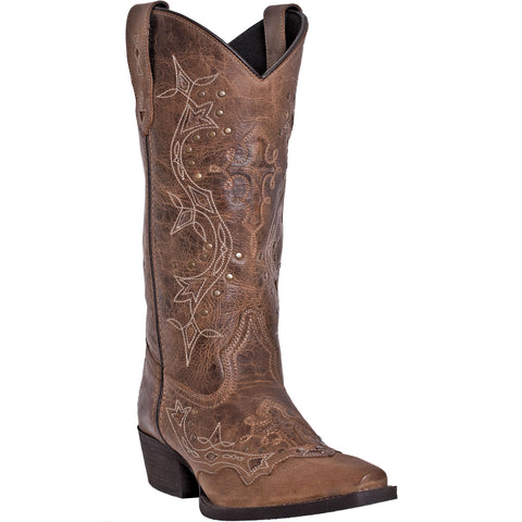 Laredo Ladies Brown Rust Cross Point Western Boot 52033 - Wild West Boot Store - 1