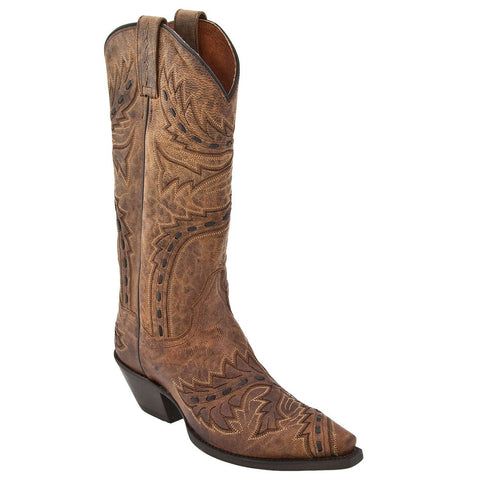 Dan Post Ladies Tan Mad Cat Sidewinder Boots DP3422 - Wild West Boot Store - 1