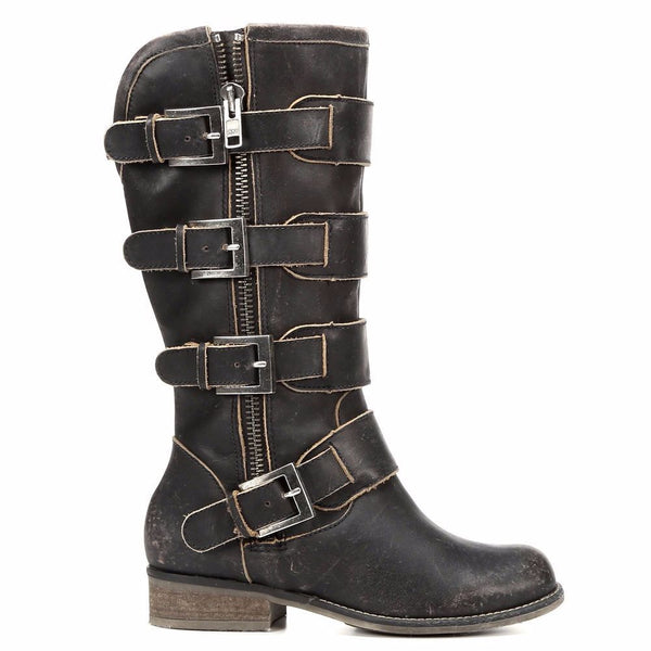 Corral Ladies Distressed Black Straps and Zipper P5079 - Wild West Boot Store - 2