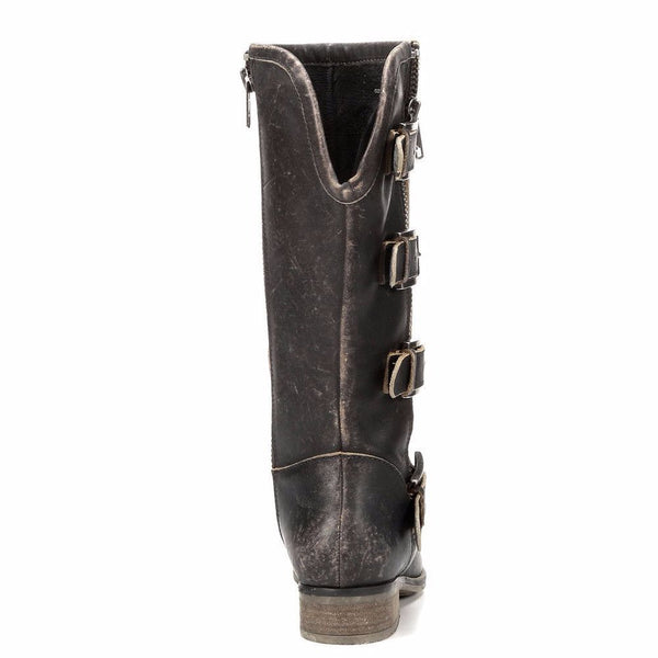 Corral Ladies Distressed Black Straps and Zipper P5079 - Wild West Boot Store - 3