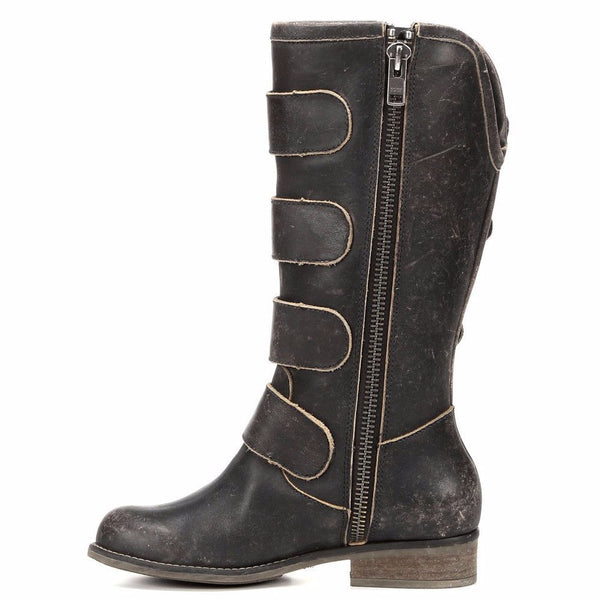 Corral Ladies Distressed Black Straps and Zipper P5079 - Wild West Boot Store - 4