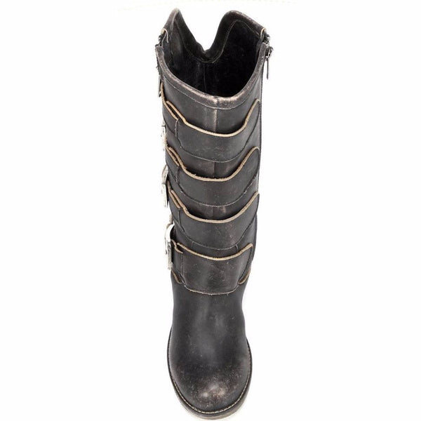 Corral Ladies Distressed Black Straps and Zipper P5079 - Wild West Boot Store - 5