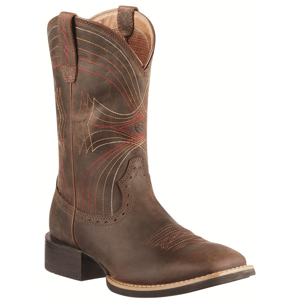 Ariat Men's Sport Wide Square Toe Brown Boots 10010963 - Wild West Boot Store