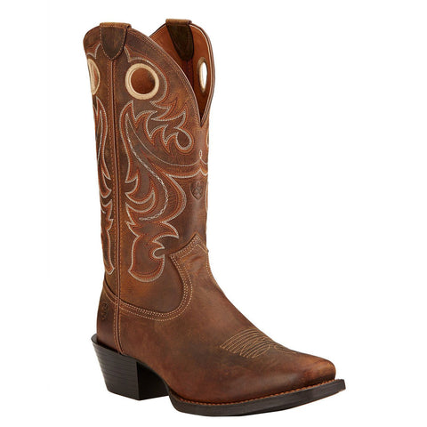 Ariat Men's Sport Square Toe Powder Brown Boots 10017365 - Wild West Boot Store