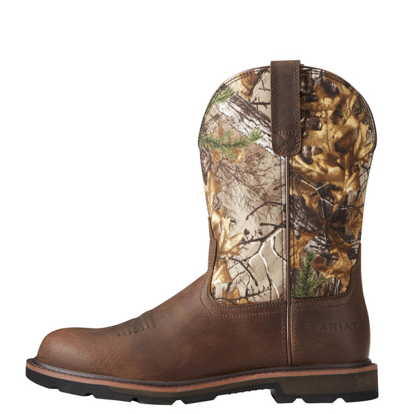 Ariat® Men's Groundbreaker Brown Real Tree™ Xtra™ Camo Boots 10020068 - Wild West Boot Store
