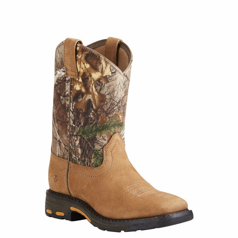 Ariat® Children's Workhog Square Toe Real Tree Xtra Camo Boot 10020104 - Wild West Boot Store