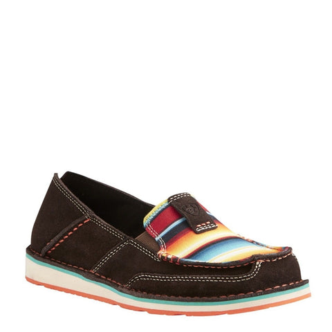 Ariat® Ladies Cruiser Chocolate Fudge Red Serape Print Shoes 10021153