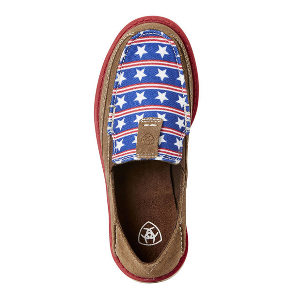 Ariat® Children's Cruiser Tan Suede Stars & Stripes Shoes 10021593 - Wild West Boot Store