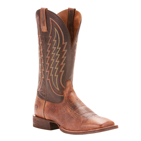Ariat® Men's Circuit Stride Weathered Tan Gunfire Gray Boots 10025083 - Wild West Boot Store