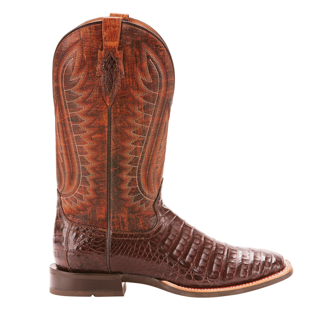 a56b5c64436 Ariat® Men's Double Down Caiman Belly Wide Square Toe Boots 10025088 ...