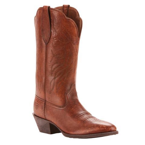 Ariat® Ladies Heritage Western R Toe Distressed Brown Boots 10025121 - Wild West Boot Store