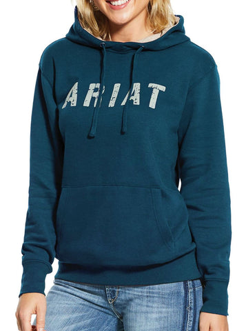 Ariat® Ladies Dream Teal Heather R.E.A.L Logo Hoodie 10029771