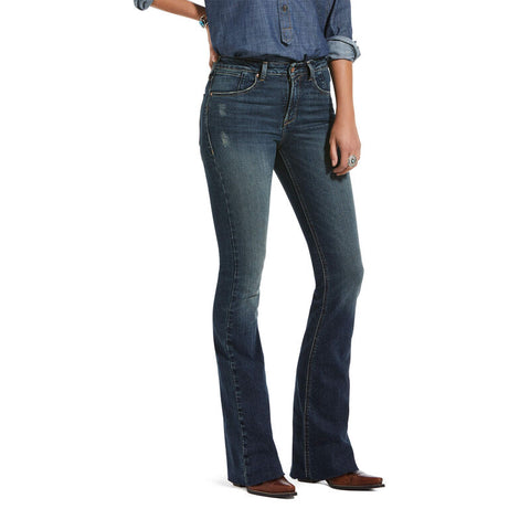 Ariat Ladies Premium High Rise Blue Lake Flare Jeans 10033323