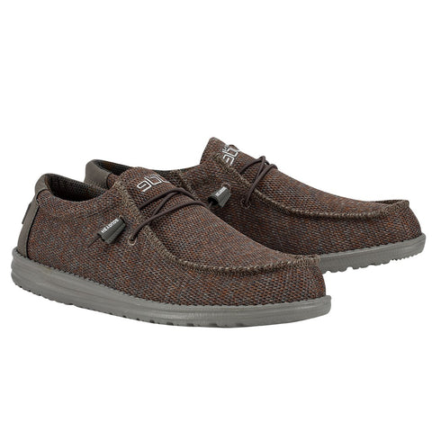 Hey Dude Men's Wally Sox Multi Taupe Orange Shoes 110350564