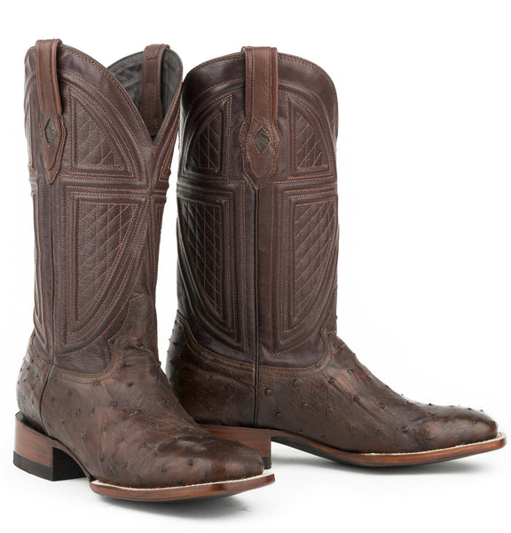 Stetson Men's Brown Full Quill Ostrich Boots 12-020-1852-0212