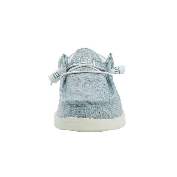 Hey Dude Ladies Wally Blue Grey Shoes 121302616