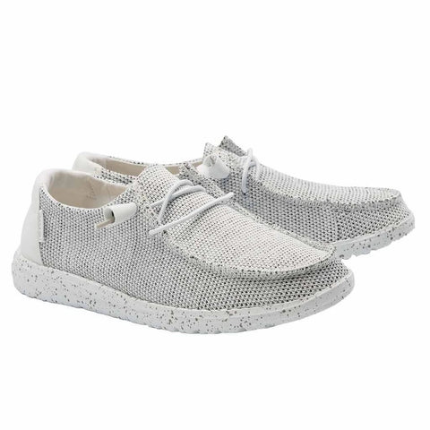 Hey Dude Ladies Wendy Sox Stone White Shoes 121410705