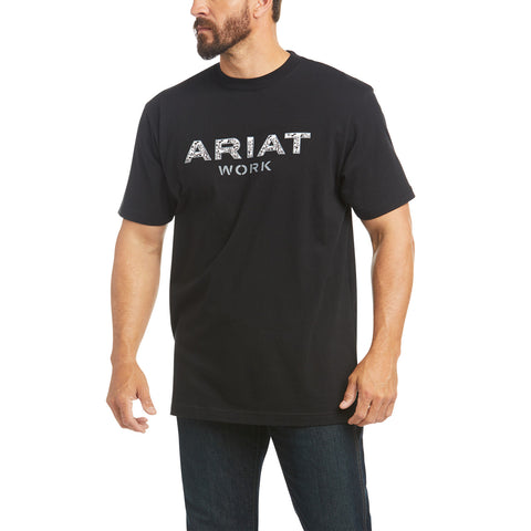 Ariat Men's Rebar Cotton Strong Reinforced Black Shirt 10035398