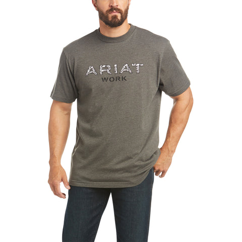 Ariat Men's Rebar Cottonstrong Reinforced Sage Heather Shirt 10035397