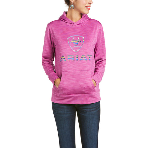 Ariat Ladies AriatTEK™ Logo Meadow Mauve Hoodie 10035212