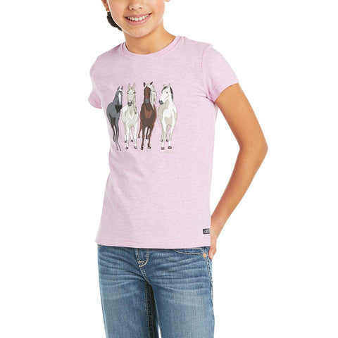 Ariat Childrens 360 View Hyacinth Violet Short Sleeve T-Shirt 10035268