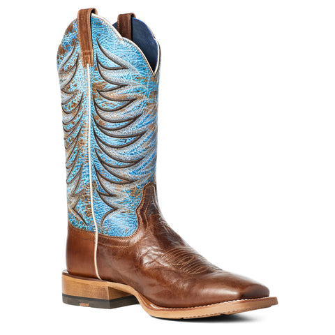Ariat Men's Firecatcher Well Brown & Blue Lake Leather Boots 10035952