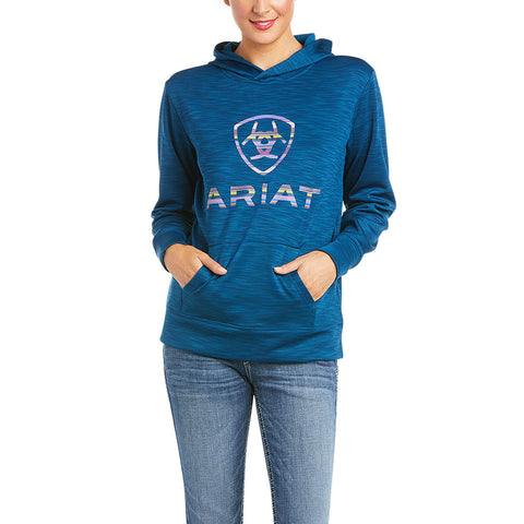 Ariat Ladies AriatTEK™ Logo Blue Opal Hoodie 10035211