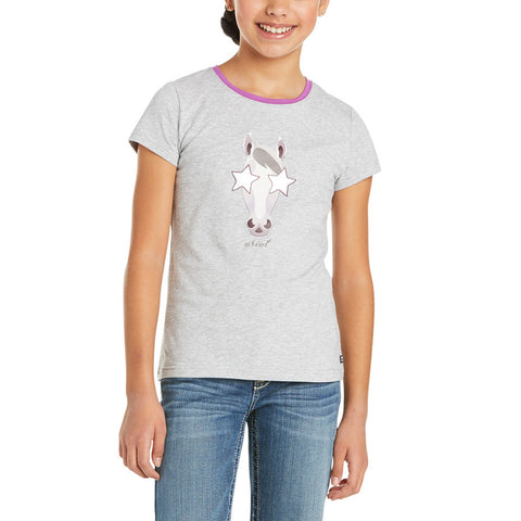 Ariat Childrens Hollywood Heather Grey Short Sleeve T-Shirt 10035273