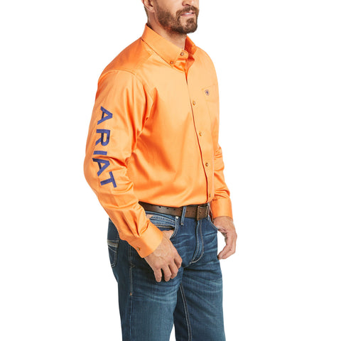 Ariat Mens Casual Series Mandarin Orange Button Down Shirt 10034916