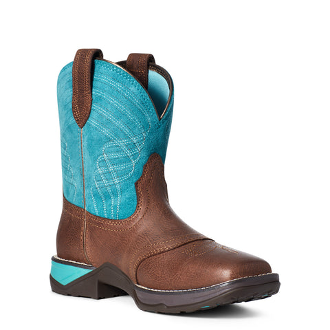 Ariat® Ladies Anthem Shortie Dark Cottage & Turquoise Boots 10035776