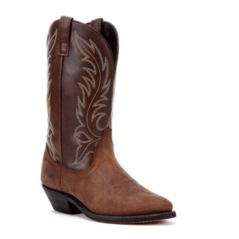 Laredo Ladies Kadi Distressed Brown Cowboy Boots 5742 - Wild West Boot Store - 1