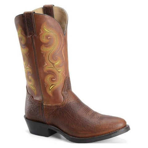 Double H Men's Brown/Yellow Boot DH4417 - Wild West Boot Store