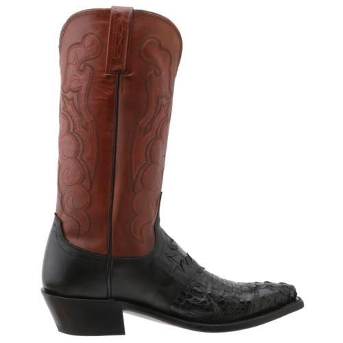 Lucchese Men's Since 1883 Saddle/Black Caiman Boot M2537.54 - Wild West Boot Store - 2