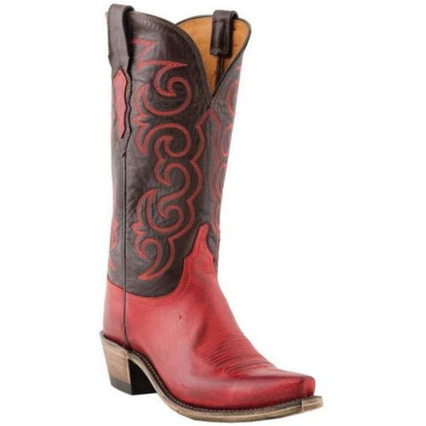 Lucchese Women's 1883 Dana Red Miller Stitch Boots N4722 - Wild West Boot Store