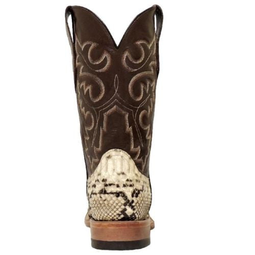 Cowtown Men's Square Toe Python Boot Q818 - Wild West Boot Store - 4