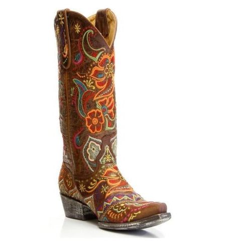 Old Gringo Ladies Olivia Floral Boot L1629-3 - Wild West Boot Store - 1