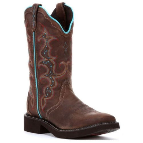 Justin Ladies Gypsy Tan Jaguar Brown Boots L2900 - Wild West Boot Store - 1